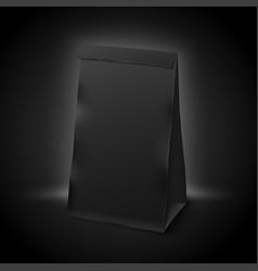 3d realistic luxury dark paper pack vector image