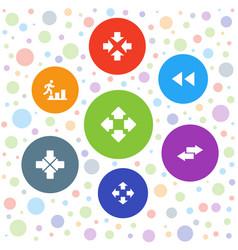 7 forward icons vector