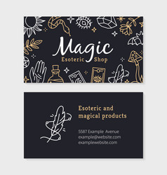 A business card for magic and witchcraft shop vector