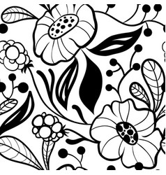 Abstract plants seamless pattern vector