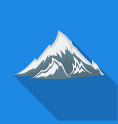 Alps icon in flat style isolated on white vector