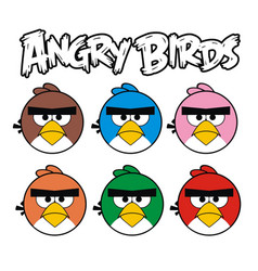 Angry birds graphic set vector