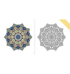 antistress coloring page mandala seventh vector image