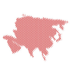 Asia map population demographics vector