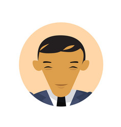 asian business man profile icon chinese vector image
