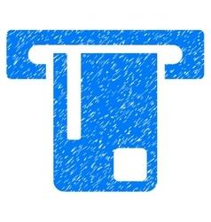Bank ATM Grainy Texture Icon vector