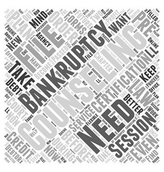 Bankruptcy Counseling Word Cloud Concept vector image