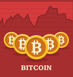 Bitcoin exchange rate chart vector
