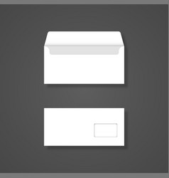blank envelope with window front and back view vector image