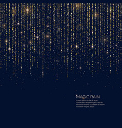 bright magic rain of sparkling vector image
