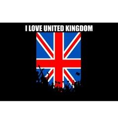 Brithish People Cheering vector image