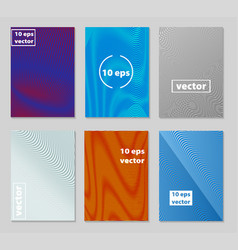 brochure template geometric halftone gradients vector image