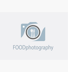 camera icon food photography concept vector image