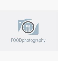 Camera icon food photography concept vector