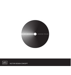 circles of lines abstract logo design vector image
