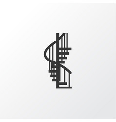 Circular staircase icon symbol premium quality vector