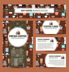 Coffee shop pattern corporate identity design vector