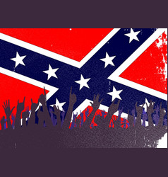 Confederate civil war flag audience vector