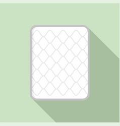 Cotton mattress icon flat style vector