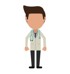 Doctor faceless avatar vector