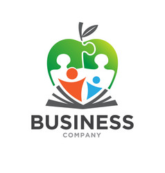 education parents care logo designs vector image