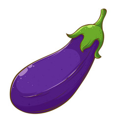 Eggplant fresh vegetable hand drawing vector