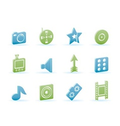 entertainment and media icons vector image
