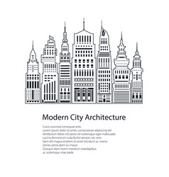 flyer modern big city vector image