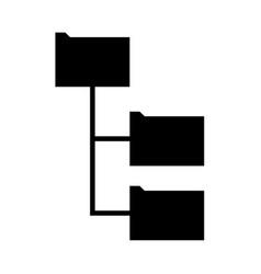 Folder structure vector