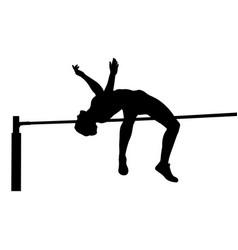 Girl athlete jumper high jump vector