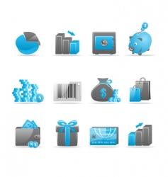 Glossy icon set vector