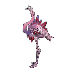 Graphic demonic flamingo vector
