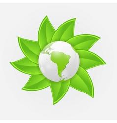 Green eco planet concept vector image