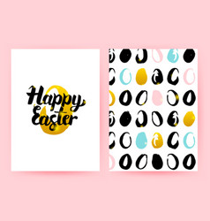 happy easter retro posters vector image