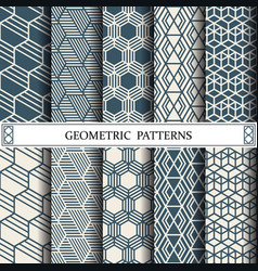 hexagon geometric patternpattern fills web vector image