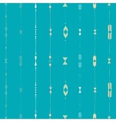 Horizontal ethnic stripes vector