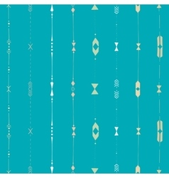 horizontal ethnic stripes vector image