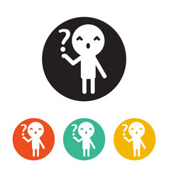 icon person and question flat design style vector image vector image
