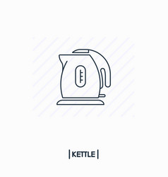 kettle outline icon isolated vector image