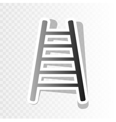 ladder sign new year vector image