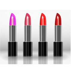 lipstick makeup fashion beauty lips cosmetic vector image