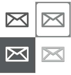 mail or envelope icon vector image