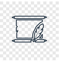 manuscript concept linear icon isolated on vector image
