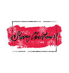 merry christmas grunge card vector image