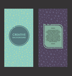 Modern layout with creative background abstract vector
