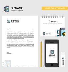 money through smartphone business letterhead vector image