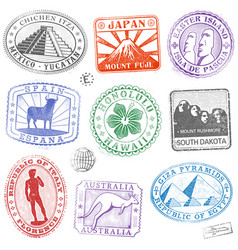 monument stamps vector image