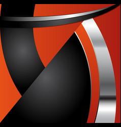 Orange background curve line on black background s vector image