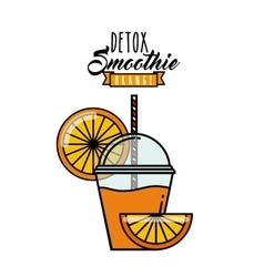 Orange Detox icon Smoothie and Juice design vector image