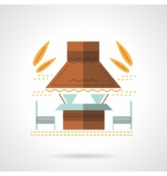 Outdoor cafe flat color design icon vector image